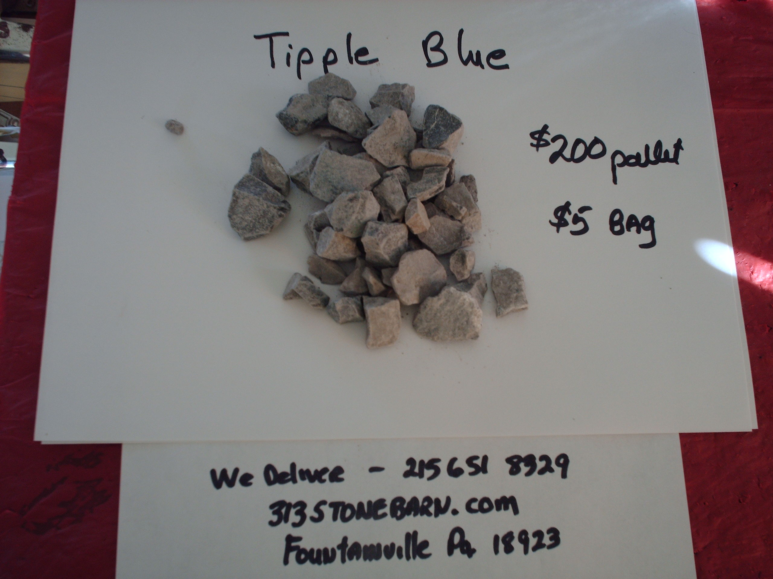 We deliver pallets of these Tipple Blue Chips.
